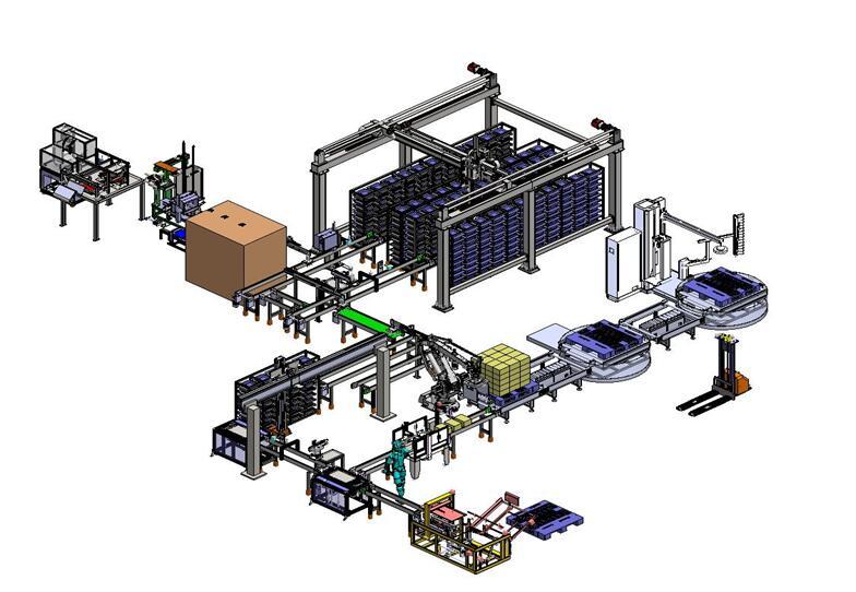 方块电池包装生产线